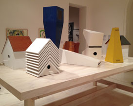 Birdhouses by Mike Kelley