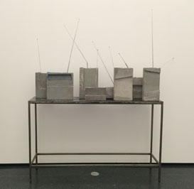 Isa Genzken cement boom box sculpture